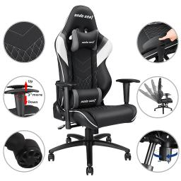 Anda Seat High-back Ergonomic Racing Gaming Chair Recliner Office Desk Adjustable Swivel Headrest & Lumbar Cushion