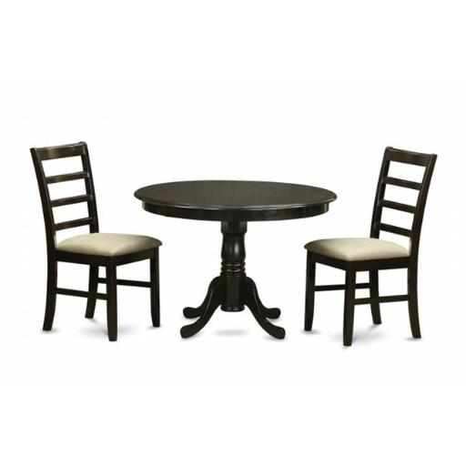 East West Furniture HLPF3-CAP-C 3 Piece Small Kitchen Table Set-Dining Table and 2 Dinette Chairs