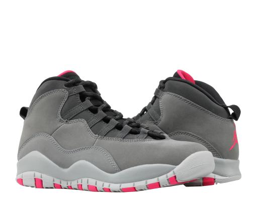 1a0e21433228f8 JORDAN Nike Air Jordan 10 Retro (GS) Dark Shadow Grey Big Kids Shoes ...