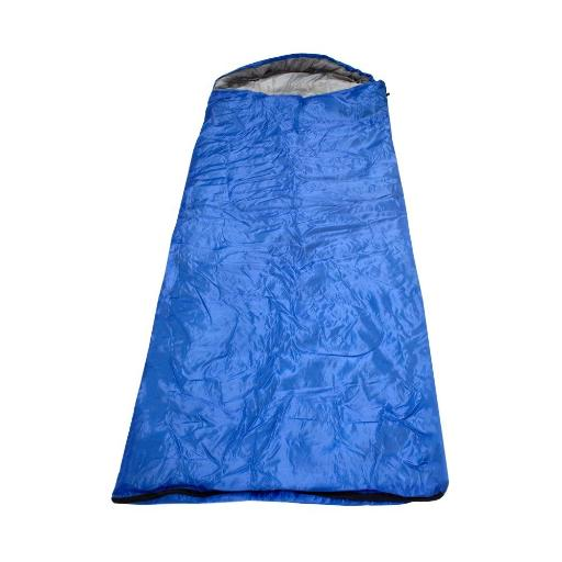 2 Moda 0.7Kg Lightweight Hooded Sleeping Bags- Royal Blue(Pack Of 10)
