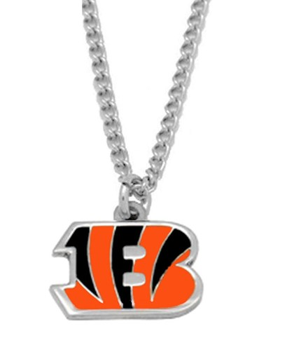 Sports Team NFL Cincinnati Bengals Logo Necklace Charm Pendant