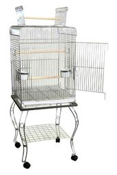 """YML 20"""" Open Top Parrot Cage With Stand - Green"""