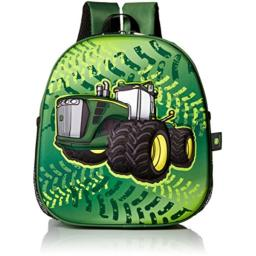 John Deere Little Kids Boys Girls Toddler Backpack, GREEN, One Size