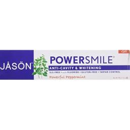 Jason Natural Tooth Gel Powersmile and CoQ10, Peppermint 6 oz
