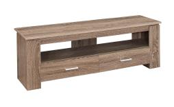"Offex OFX-504242-MO Entertainment Room TV Stand, 48""L/Dark Taupe with 2 Storage Drawer"