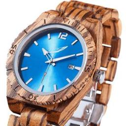 Men's Personalized Engrave Zebrawood Watches - Free Custom En
