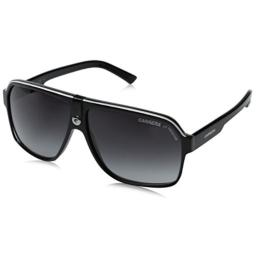 Carrera 33/S Aviator Sunglasses, Black Crystal Grey Frame/Dark Grey Gradient Lens