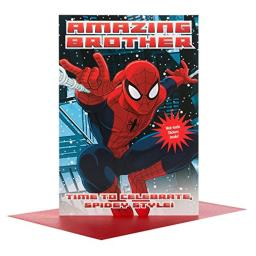 spiderman Brother Christmas Card