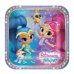 8 SMALL PAPER PLATES Cake Dessert SHIMMER AND SHINE