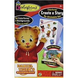 Colorforms Brand Daniel Tiger Create A Story Restickable Set by, Brown/A
