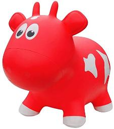 Farm Hoppers Bouncing Inflatable Animals Award Winning Ride On Bouncy Cow Animal Jumper Toy For Children, Bpa, Latex Free Plastic, Easy Use Hand Pump