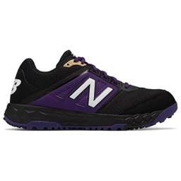 New Balance Men's 3000v4 Turf Baseball Shoe, Black/Purple, 11 D US