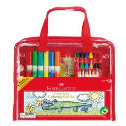 Faber-Castell Young Artist Coloring Gift Set - Premium Art Supplies for Kids in Portable Storage Bag
