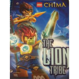 """LEGO Chima Wide Ruled Poly Cover Spiral Notebook ~ The Lion Tribe! (8"""" X 10.5""""; 70 Sheets, 140 Pages)"""