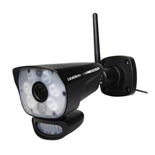 Uniden ULC58 Outdoor Video Surveillance Camera with Night Vision Up to 45 Ft Includes: One ULC58 Video Surveillance Camera with 6 infrared LEDs*LightCAM HD Security Camera, Motion-Sensing Spotlight & Camera*Remote Viewing on iOS & Android*Easy to Installation*Compatible With the UDR777HD & UDR780HD