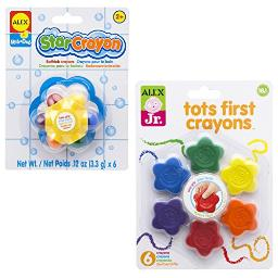ALEX Toys Tots First Crayons and Star Bath (2 Pack) Crayon, Multicolor