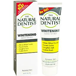 The Natural Dentist Healthy Teeth & Gums Whitening Plus Toothpaste, Peppermint Twist 5 oz Pack of 22