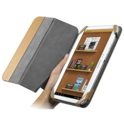 CHIL Notchbook Premium Leather Cover for Samsung Galaxy Tab 3 101 - English Tan (0112-4863)