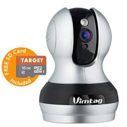 Vimtag 361 2MP Smart WiFi IP Camera Wireless Indoor Camera with TwoWay Audio Motion Detection Night Vision PTZ for Monitor Home Surveillance Work with Alexa 1080P (362)