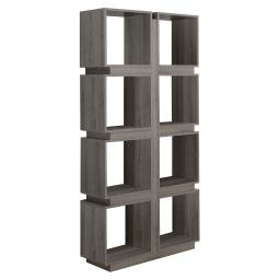 """Offex Contemporary Dark Taupe Wood-look Finish 8 Cubic Shelf Bookcase, 71""""H"""