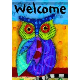 Carson Home Accents FlagTrends Classic Large Flag, Bright Owl