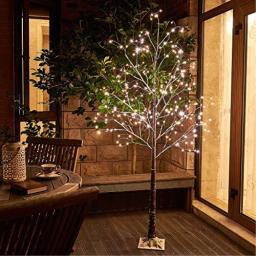Vanthylit 6FT 288LT Snow Tree with Fairy Lights Warm White for Party Wedding Holiday Decor