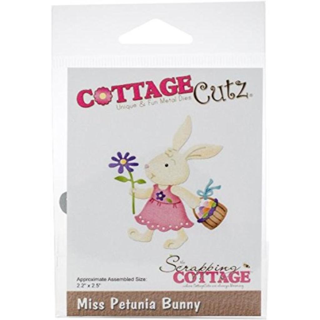 """CottageCutz CC-417 2.2"""" x 2.5"""" Die Miss Petunia Bunny, Multicolor"""