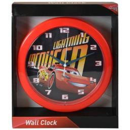"CARS Disney 3 10"" Round Wall Clock in Open Window Box"