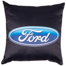 Pillow Decorative Throw Ford Oval Logo Black Blue