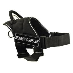 DT Fun Works Harness, Search and Rescue, Black With Reflective Trim, Large - Fits Girth Size: 32-Inch to 42-Inch
