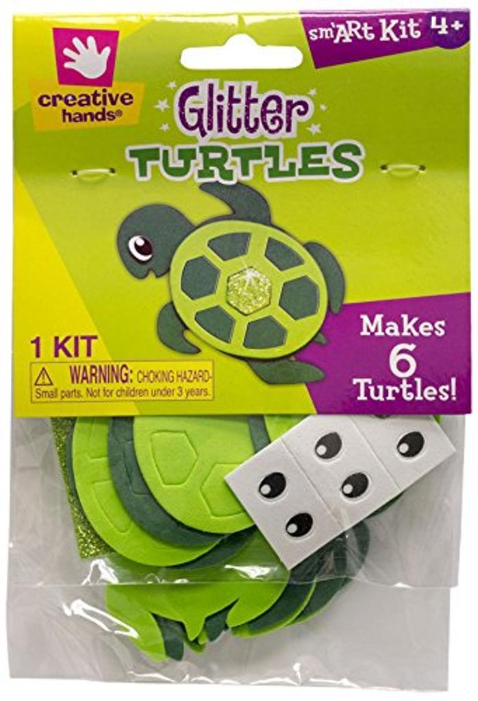 Creative Hands Glitter Turtles Makes 6 Kit