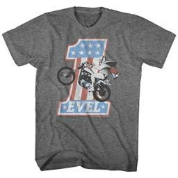 Evel Knievel American Iconic Daredevil Number One Evel Adult T-Shirt Tee 5X