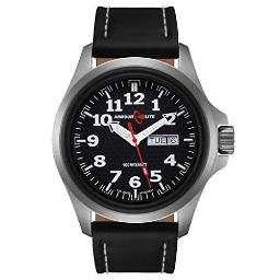 Armourlite Officer Series AL801 Watch - Black Dial - Black Leather Band
