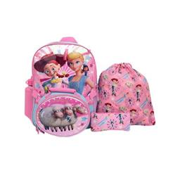 Toy Story 4 Bo Peep and Jessie 5 Piece Backpack Set