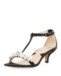 Adrienne Vittadini Womens Kalina Open Toe Special Occasion T-Strap Sandals