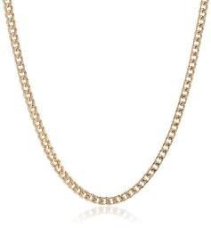 """Ilanava Stainless Steel Thin Foxtail Chain Necklace Whole Gold Ion Plating 22"""""""