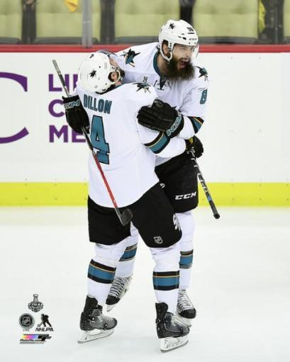 Brent Burns & Brenden Dillon Goal Celebration Game 5 of the 2016 Stanley Cup Finals Photo Print 0HC1JV7NDC7RWIHR