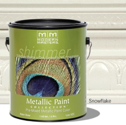 Modern Masters Metallic Paint Collection Paint, 1 Gal, Snowflake
