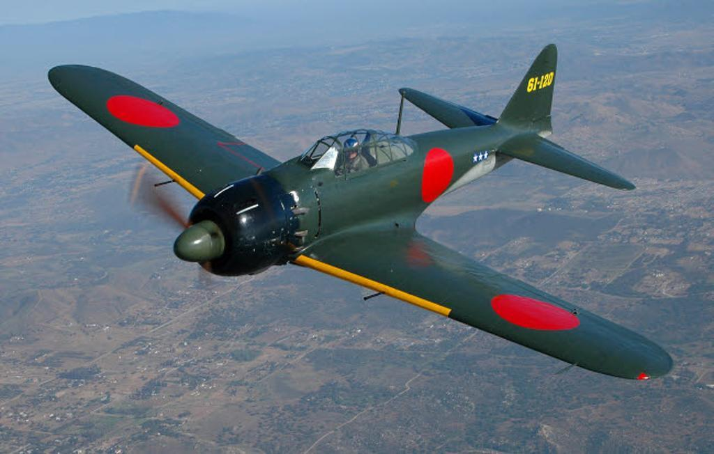 A6M Japaneese Zero flying over Chino, California Poster Print by Phil Wallick/Stocktrek Images