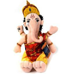 Ganesh Little Thinker Plush Doll Religious Novelty Hindu Arms Funny Gift