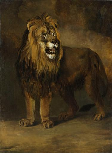 Lion From The Menagerie Of King Louis Napoleon, By Pieter Gerardus Van Os, 1808, Dutch Oil Painting. Poster Print