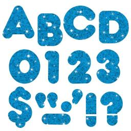 Trend Enterprises T-1617BN 4 in. Casual Sparkle Ready Letters, Blue - Pack of 6