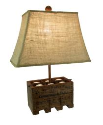 Basket of Farm Fresh Eggs Country Style Table Lamp