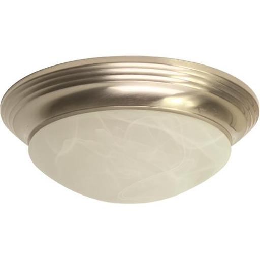 ROYAL COVE DECORATIVE FLUSH MOUNT CEILING FIXTURE, BRUSHED NICKEL, 14 X 5 563116 SYSD8Z7KHEJFOOHW