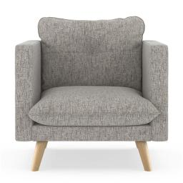 NyeKoncept 50180500 Pebble Weave Jace Armchair, Heathered Taupe & Natural
