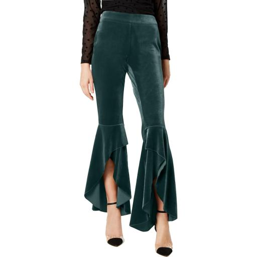 INC Womens Velvet Wide Leg Pants