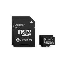 Centon Electronics S1-MSDHC4-4G2PK 4GB MP Essential Micro SDHC Card-Class 4, Pack of 2