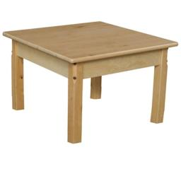 Wood Designs 82414C6 24 in. Mobile Square Hardwood Table With 14 in. Legs