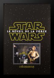 Star Wars: Le Reveil De La Force - Movie Poster with Signed Photo by Kenny Baker and Anthony Daniels