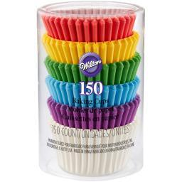 Mini Baking Cups Rainbow 150/Pkg